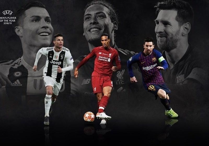 نامزدهای بهترین بازیکن فصل گذشته لیگ قهرمانان اروپا انتخاب شدند، شروع رقابت انفرادی فن دایک با مسی و رونالدو