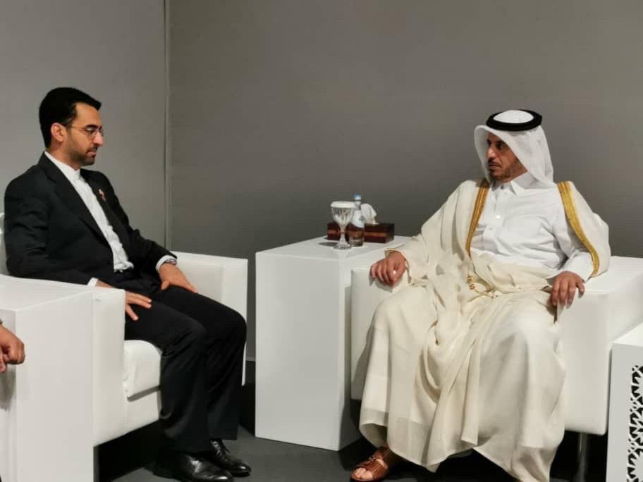 دیدار وزیر ارتباطات با نخست وزیر قطر