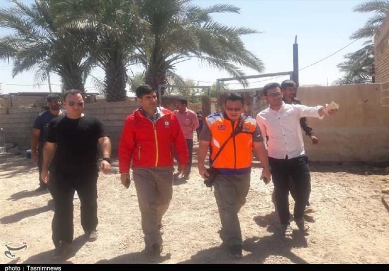 نمایندگان مؤسسات اسلامی مالزی از مناطق سیل زده خوزستان بازدید کردند