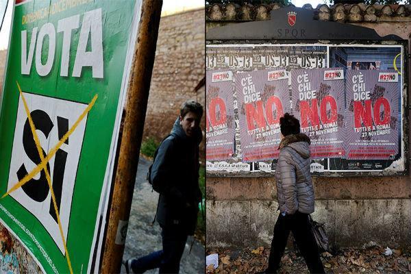 دودستگی مردم ایتالیا در خصوص همه پرسی قانون اساسی