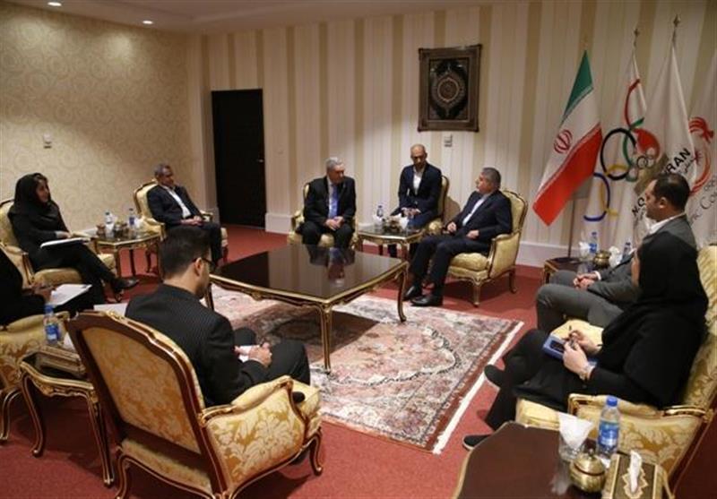 ملاقات نایب رئیس فدراسیون جهانی شمشیربازی با صالحی امیری