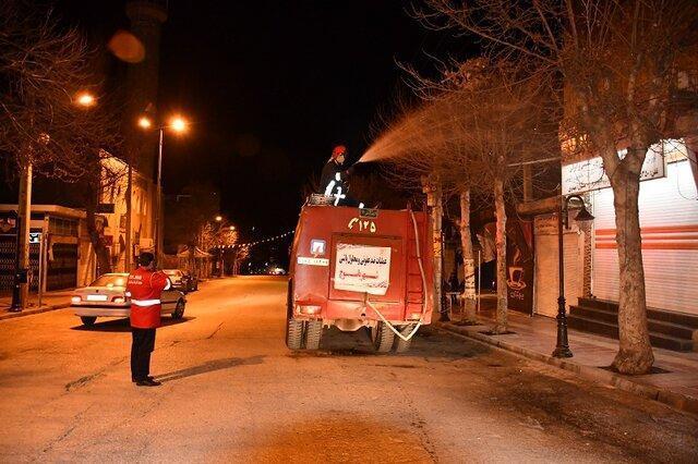 تداوم ضدعفونی معابر شهری و مراکز پرتردد شهرهای کهگیلویه و بویراحمد