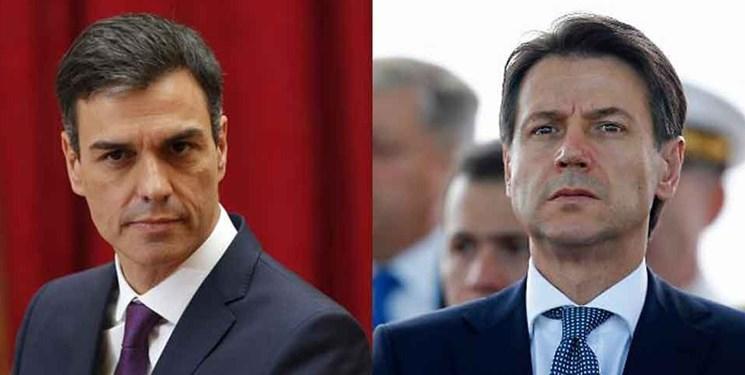 ابراز امیدواری رهبران ایتالیا و اسپانیا از ادامه فرایند کاهشی شیوع کرونا در این دو کشور