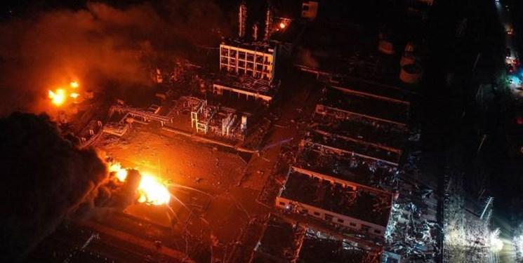 فیلم ، وقوع انفجار مهیب در یک تاسیسات ساخت مواد شیمیایی در شرق چین