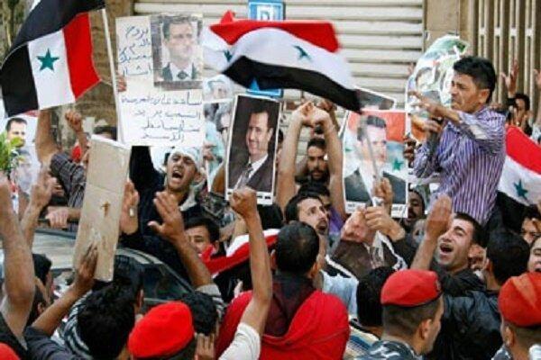 مردم سوریه تظاهرات ضد آمریکایی برگزار کردند