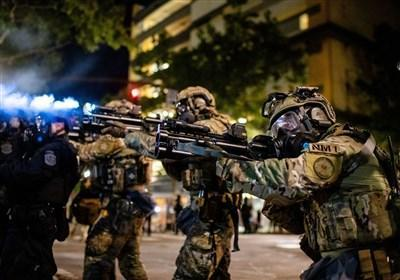 پلیس آمریکا در پورتلند معترضان به نژادپرستی را سرکوب کرد