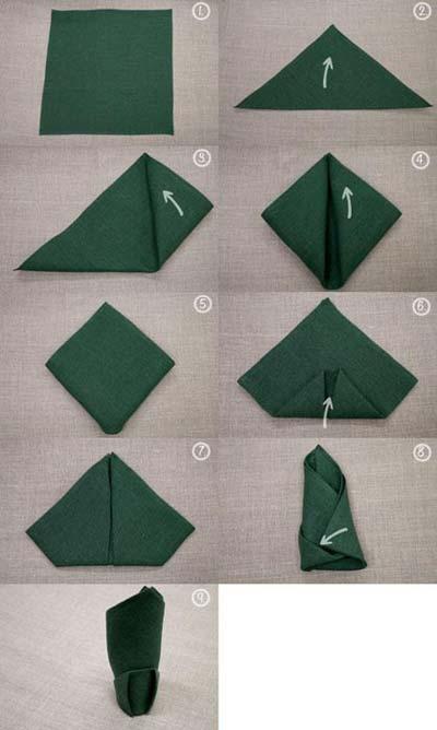 آموزش سه مدل تزیین دستمال سفره