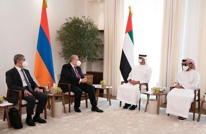 در ملاقات رئیس جمهور ارمنستان با بن زاید چه گذشت؟