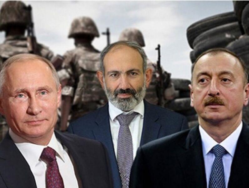 خبرنگاران گفت و گوی پوتین با علی اف و پاشینیان درباره اجرای توافق صلح