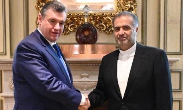 ملاقات سفیر ایران با رئیس کمیته امور بین الملل دومای دولتی روسیه