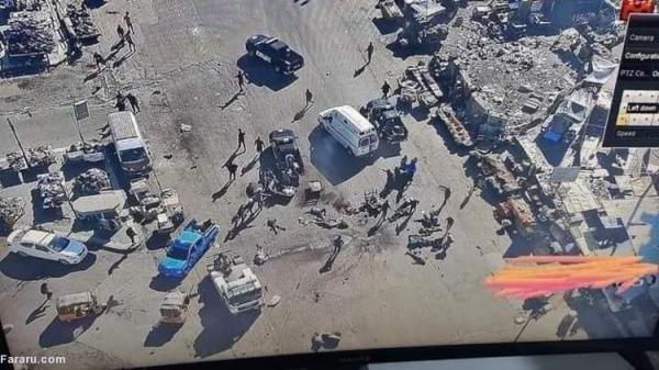 (ویدئو) لحظه وقوع انفجار انتحاری در بغداد