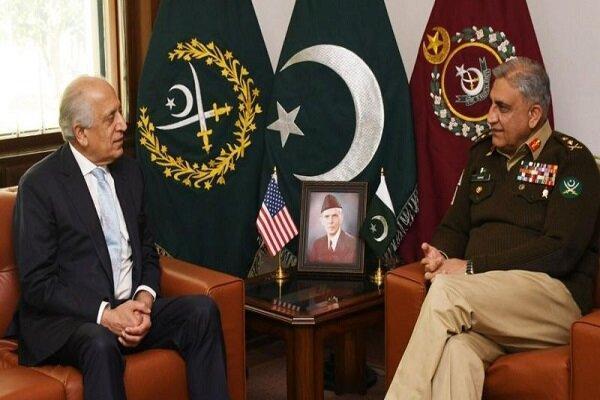 خلیل زاد با رئیس ستاد مشترک ارتش پاکستان ملاقات کرد